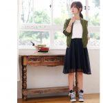 30代向け♪スカートを使ったPierrot(ピエロ)の上品な秋コーデ♪