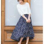 デザインスカートで魅せる♪Pierrotの上品な大人フェミニン春コーデ♪