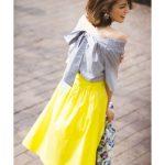 春夏注目の『イエロー』を使った最旬コーデ♪スカートからトップスまで幅広く♪