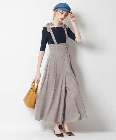 オフィスカジュアルとしても、清涼感のある着こなしをチェックすることができるファッション通販サイトと言えば、やっぱりティティベイトですね。