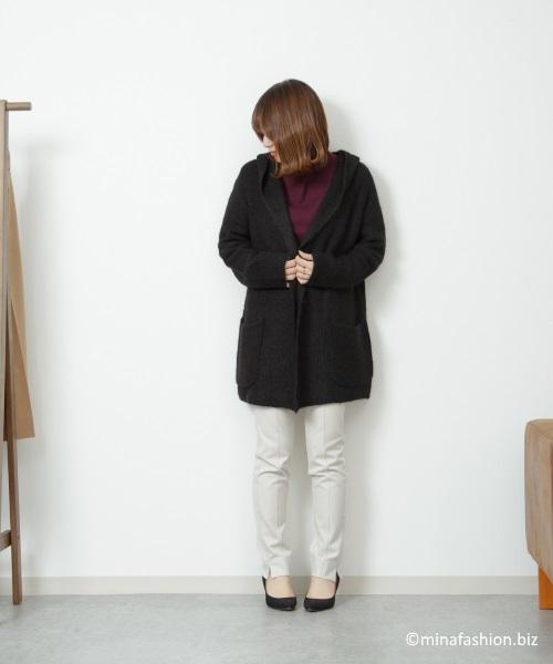 アルパカ混・フーディカーディガン ¥ 9,990