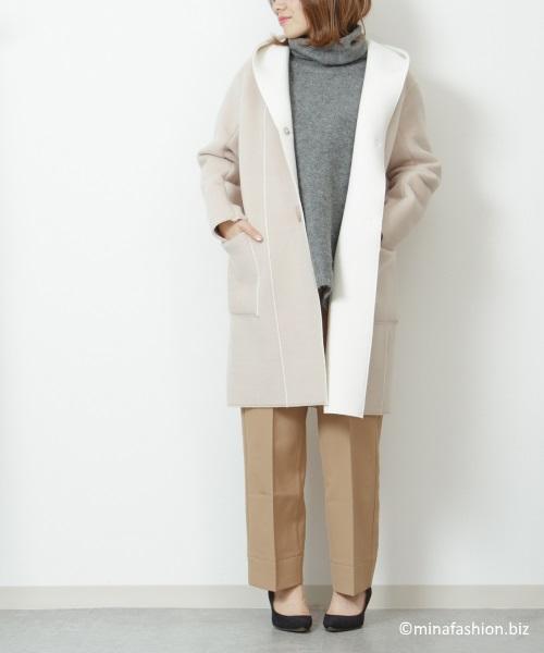DoCLASSE エアーウォーム・配色フードコート ¥ 9,990