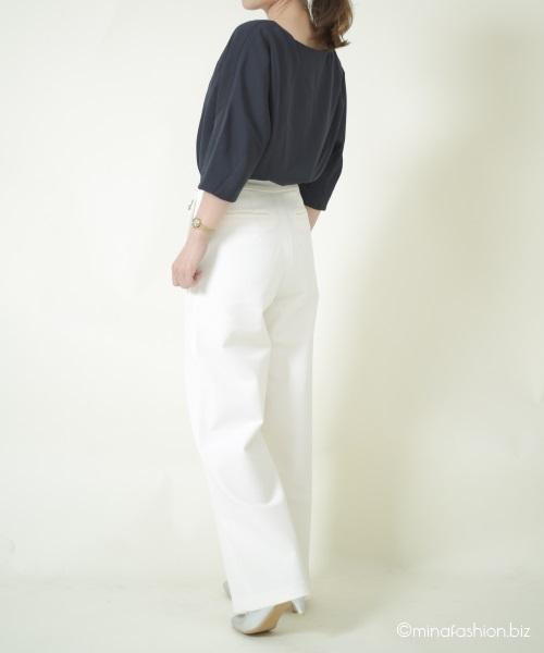 通勤ファッションでも日常でも春に役立つDoCLASSEのブラウスコーデレポ
