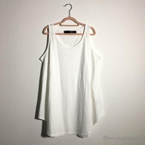 オシャレウォーカー シンプルシャツ型タンクトップ 1,404円(税込)