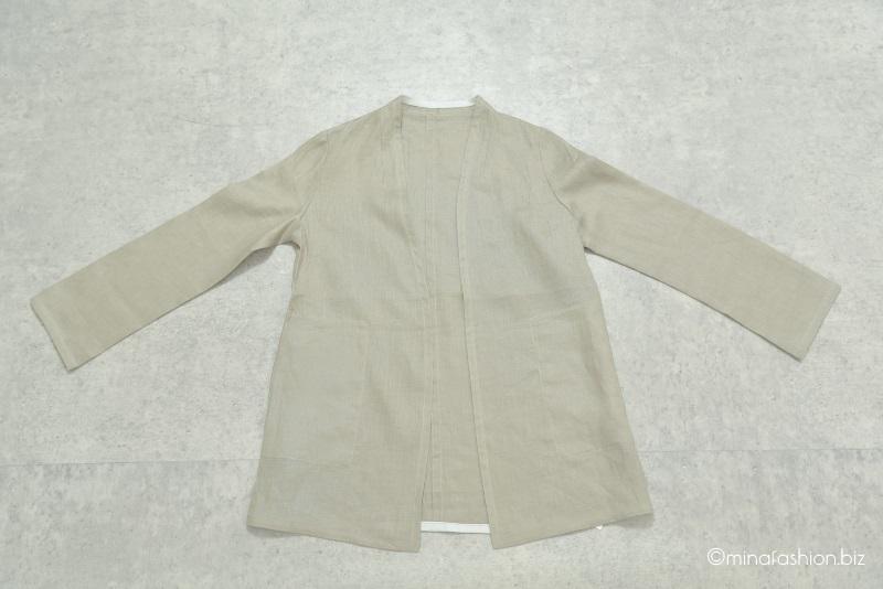 DoCLASSE 21番リネン・ノーカラージャケット