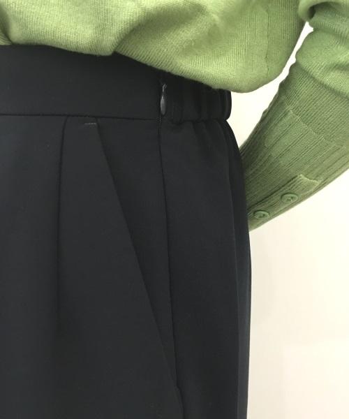 DoCLASSE プレミアムWクロス・ワイドクロップドパンツ