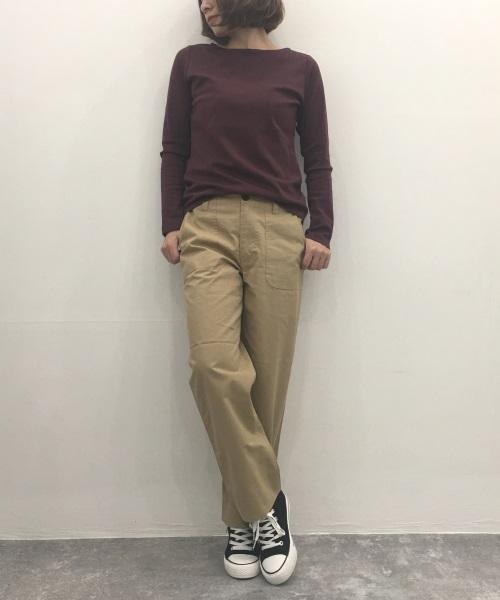 DoCLASSET ドゥクラッセTシャツ・ボートネック長袖/58cm丈