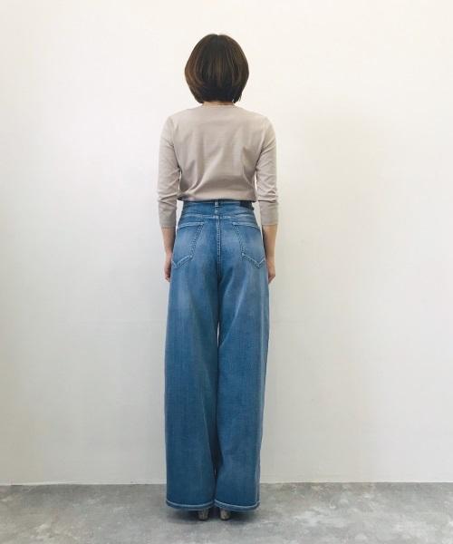 DoCLASSE甘撚りエアーデニム・スマートワイド