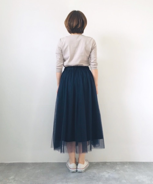 DoCLASSE チュールギャザー・ロングスカート
