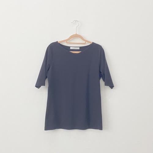 ドゥクラッセTシャツ・浅Vネック5分袖