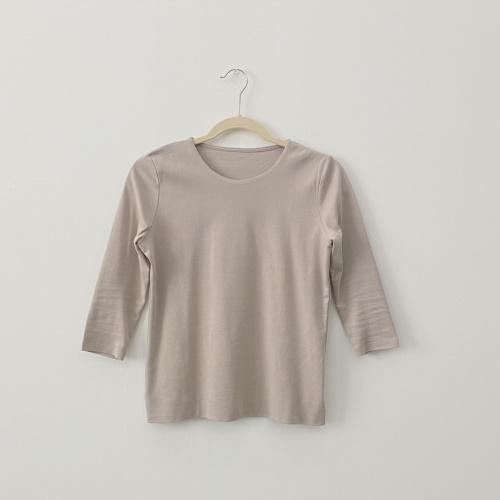 ドゥクラッセTシャツ・深ジュエルネック5分袖