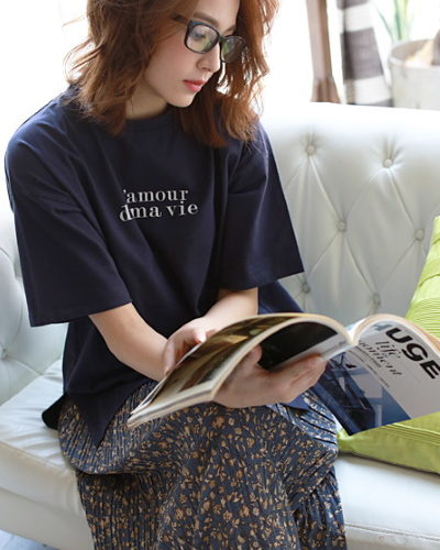 REAL CUBEオーバーサイズオーガニックコットンTシャツ3,500円