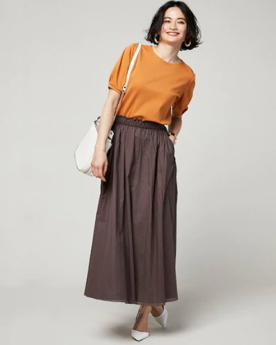 DoCLASSEコットンローン・エアリーギャザースカート8,990円