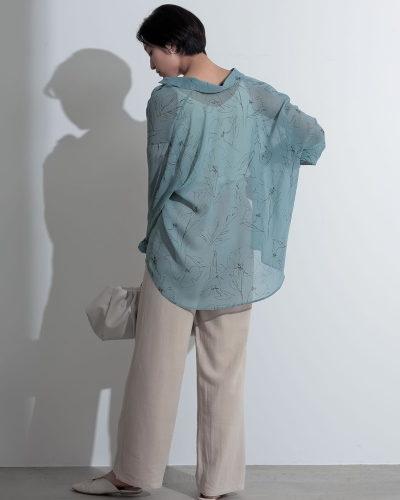 Re:EDITフラワープリントシアーシャツ4,540円