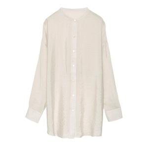 Re:EDIT・レーヨンブレンドマオカラーシアーシャツ/3,790円