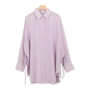 Pierrot・サイドリボンシアーロングシャツ MD/3,490円