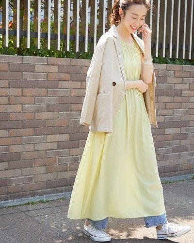 2020年30代女性の春夏トレンドファッション・リネンジャケット