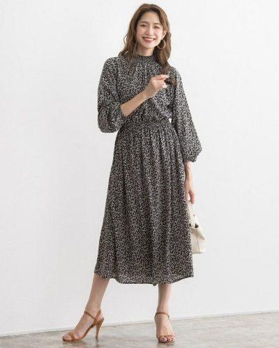 2020年30代女性の春夏トレンドファッション・ネイチャー柄