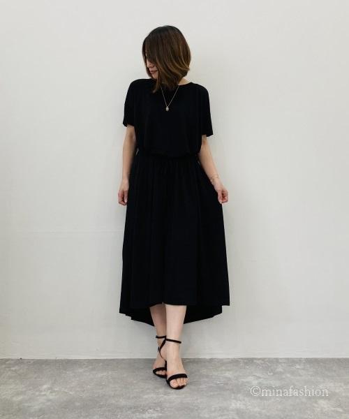 DoCLASSE UVスラブ・ロングフレアワンピ/無地 5,990円