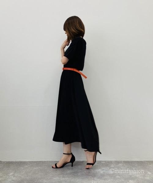 DoCLASSE UVスラブ・ロングフレアワンピ/無地 6,589円(税込)
