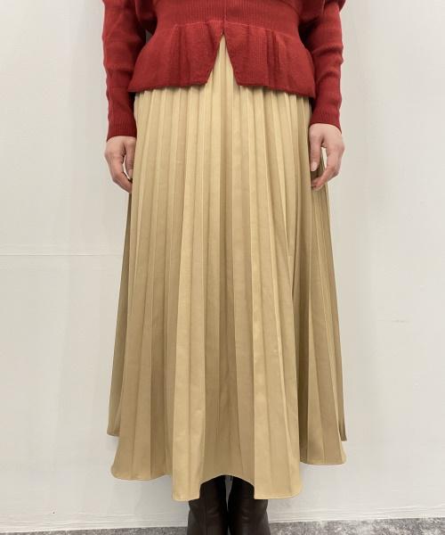SAISON DE PAPILLON バックゴムロングプリーツスカート