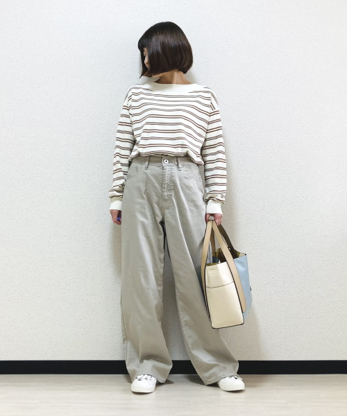 DoCLASSE 総針編み・ボートネックセーター