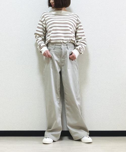 DoCLASSE 甘撚りカラーデニム・ワイドストレート