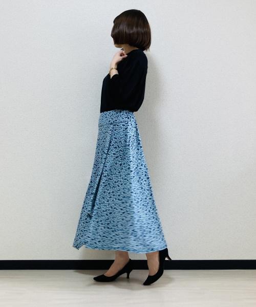 DoCLASSE ドレープジャージー・ランダムヘムスカート