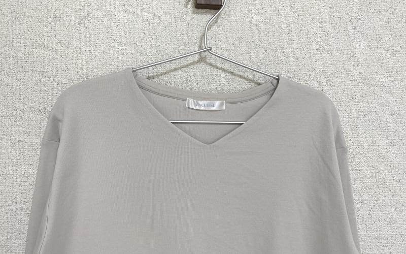 ドゥクラッセTシャツ・抜け感Vネック7分袖